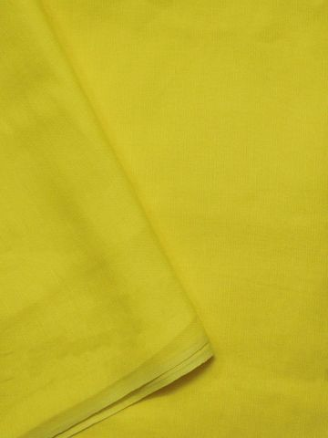 Bright Lemon Yellow Handwoven Linen Cotton Fabric - 62 inch