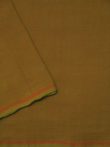 Greenish Mustard Stripes Handwoven Cotton Fabric