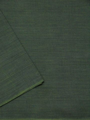 Yellowish Green Stripes Natural Dyed Handwoven Cotton Fabric
