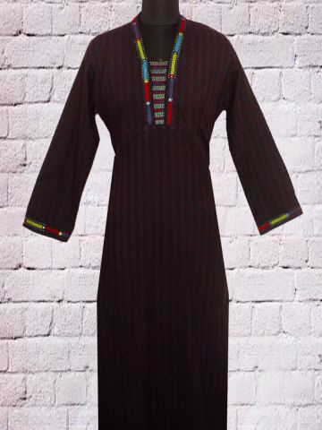 Hand Embroidered Lambani Long Kurta
