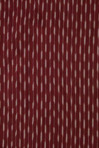 Brownish Maroon Handwoven Ikat Fabric