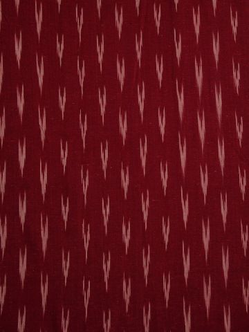 Maroon With White Handwoven Ikat Fabric