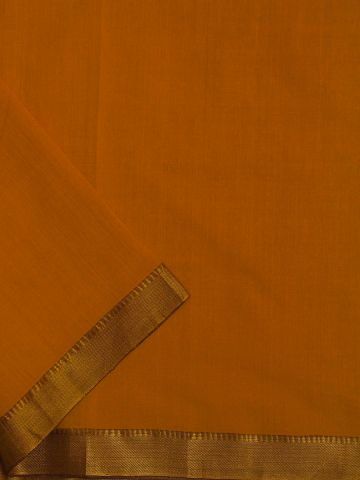 Yellow Zari Border Handwoven Cotton Fabric