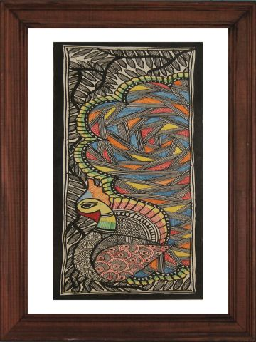 Hand Painted Madhubani Wall hanging