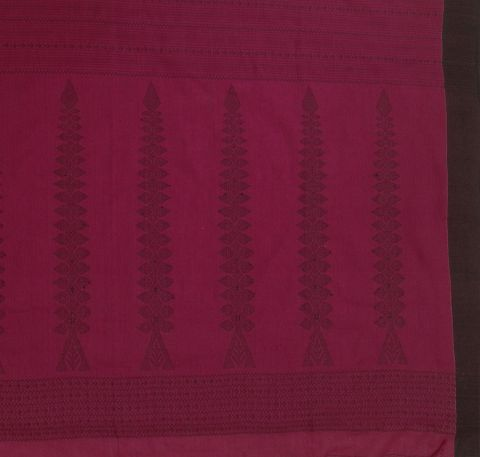 Pink With Black Handwoven Phulia Cotton Saree