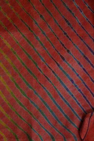 Red Leheriya Tussar Silk Saree