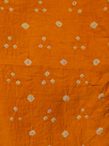 Yellow Bandhini cambric cotton Fabric