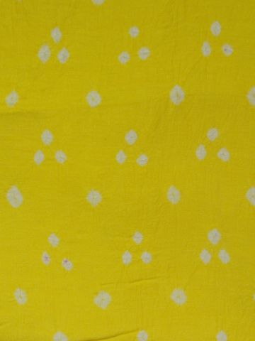 Lemon Yellow Bandhini cambric cotton Fabric