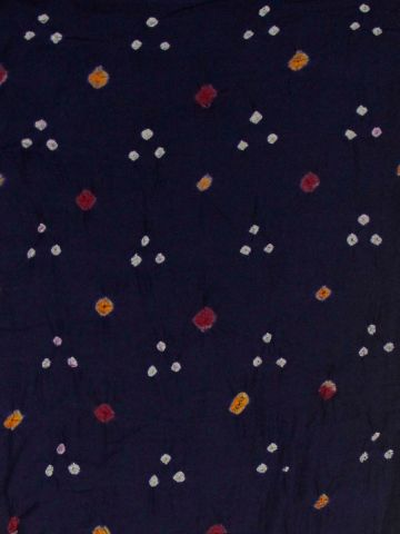Dark Blue Bandhani cambric cotton Fabric