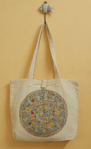 Hand Painted Madhubani Bag