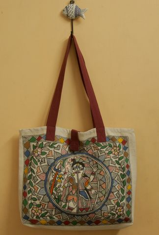 Shivan Hand Madhubani Painted Bag
