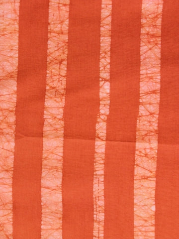 Orange Stripes Natural Dyed Batik Fabric - 0.9m
