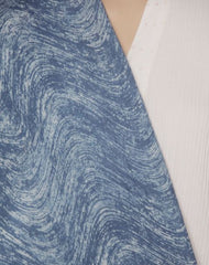 Subdued Indigo Waves - Cotton Fabric