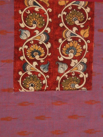 Painted Yoke Bordered Ikat Fabric