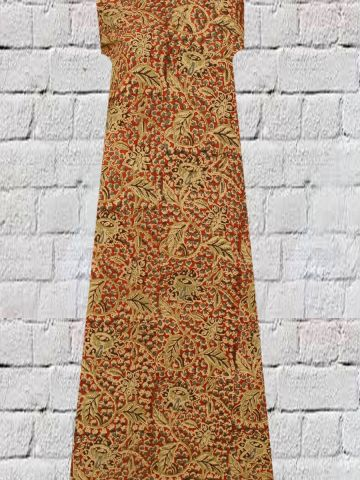 Leaves floral block printed Kalamkari
