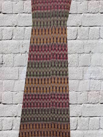 Multi colour Mercerised Cotton Ikat Fabric
