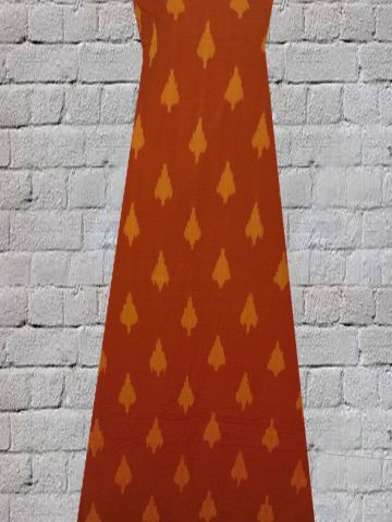 Orange Arrows - Handwoven Ikat Fabric