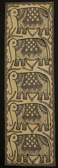 Elephant - Madhubani Hand Painted Wall hanging