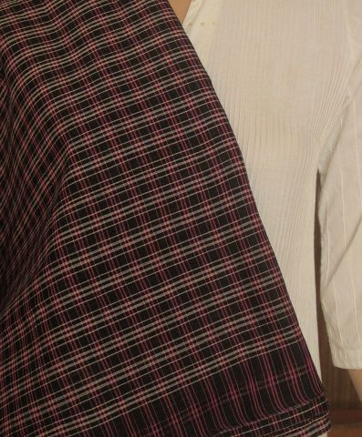 Checks Handwoven Cotton Fabric