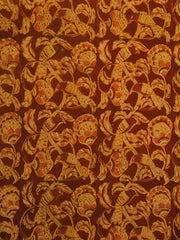 Rust Red Hand Printed Malkha Cotton Fabric