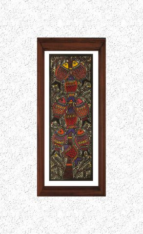 Multi Colour Fishes - Madhubani Hand Painted Wall hanging