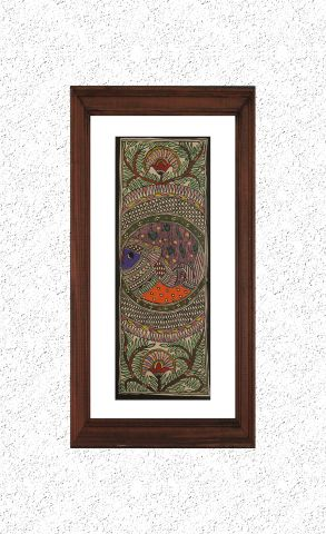 Fishes in Water- Madhubani Hand Painted Wall hanging