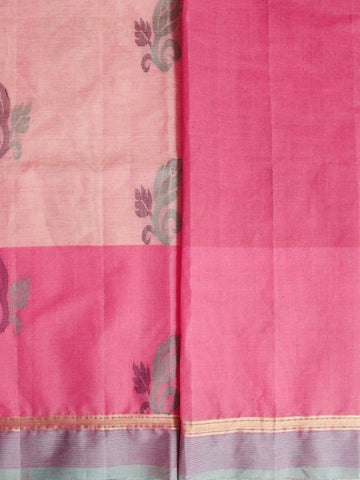 Buds - Pink Handwoven Coimbatore Cotton Saree