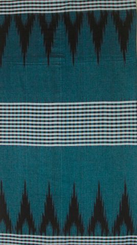 Blue with black checks Pattern Orissa Ikat Saree
