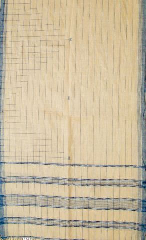 Indigo checks Kala Cotton Khad Stole
