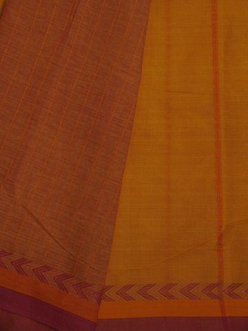 Yellow With Orange And Pink Traditional Design Bengal Cotton Saree