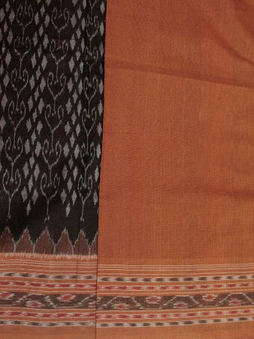 Half & Half Black with brown Handwoven Orissa Ikat Saree