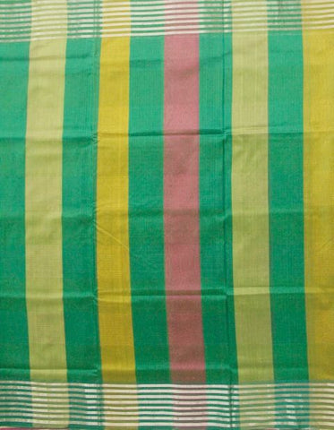 Color Bands Handwoven Vintage feel silk saree