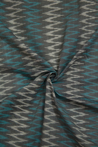 Blue with White Zig Zag Ikat Fabric