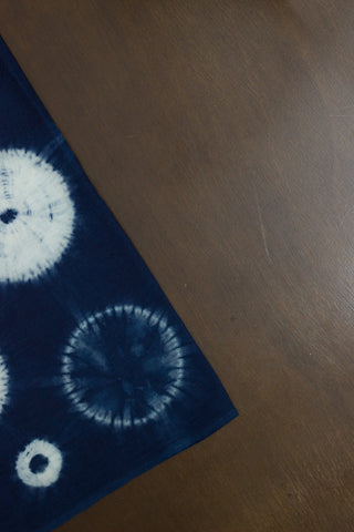 Indigo Shibori - Natural Dyed Organic Handwoven Cotton