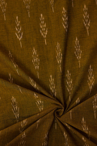 Doubleshade Honey brown Handwoven Ikat Fabric