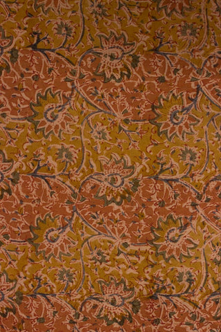 Shades of Orange - Block Printed Kalamkari Fabric