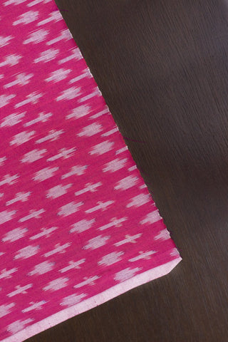 Dark Pink Mercerized Handwoven Ikat Fabric