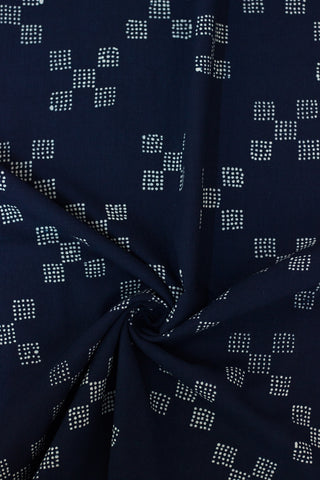 Checkered Indigo - Batik work Organic Handwoven Cotton