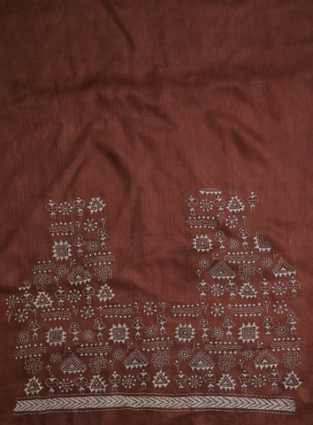 Natural Dyed Embroidered Blouse Fabric