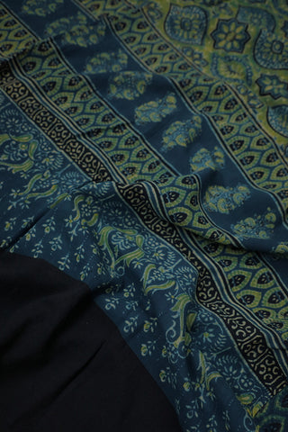 Rangoli Blue Ajrak Cotton Dupatta