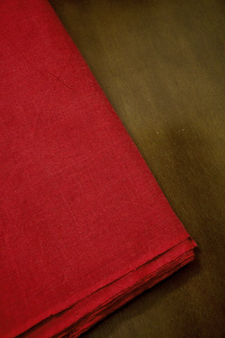 Reddish Maroon Yarn Dyed Plain Cotton Fabric-0.5 m