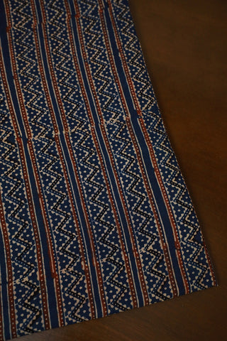 Ajrak Block Printed Cotton Fabric-2 m