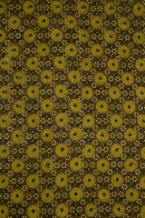 Light Olive Green circles Ajrak Cotton Fabric