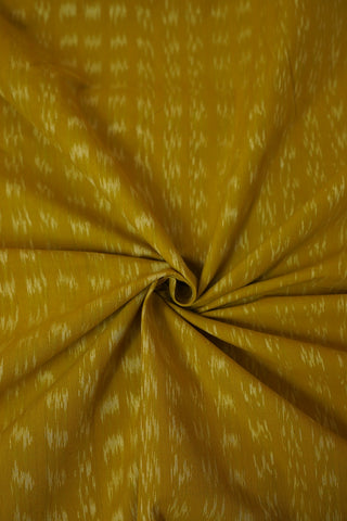 Yellow Handwoven Ikat Cotton Fabric