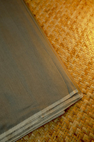 Cement Grey Silk Cotton Maheshwari Fabric-0.5 m