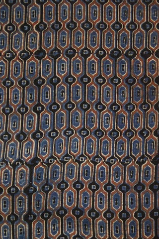 Indigo Hive Ajrak Cotton Fabric