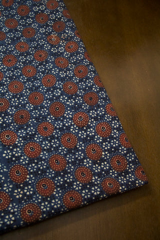 Maroon Circles  Ajrak Cotton Fabric