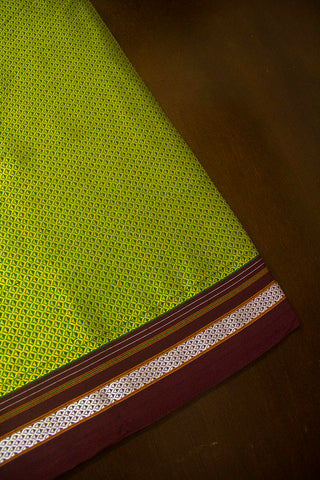 Yellowish Green Khun Cotton Fabric
