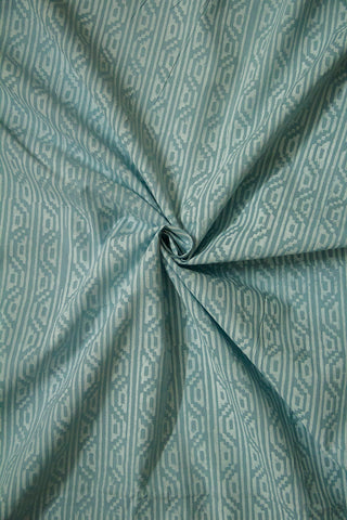 Blueish Grey Block Printed Cotton Fabric