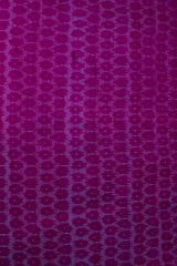 Magenta Raw Silk Ikat Fabric
